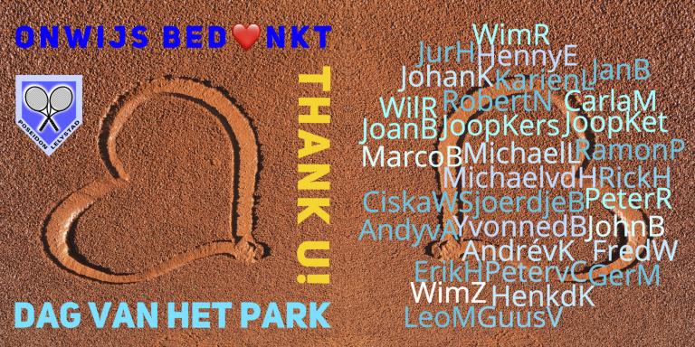 Bedankt - dag van het park