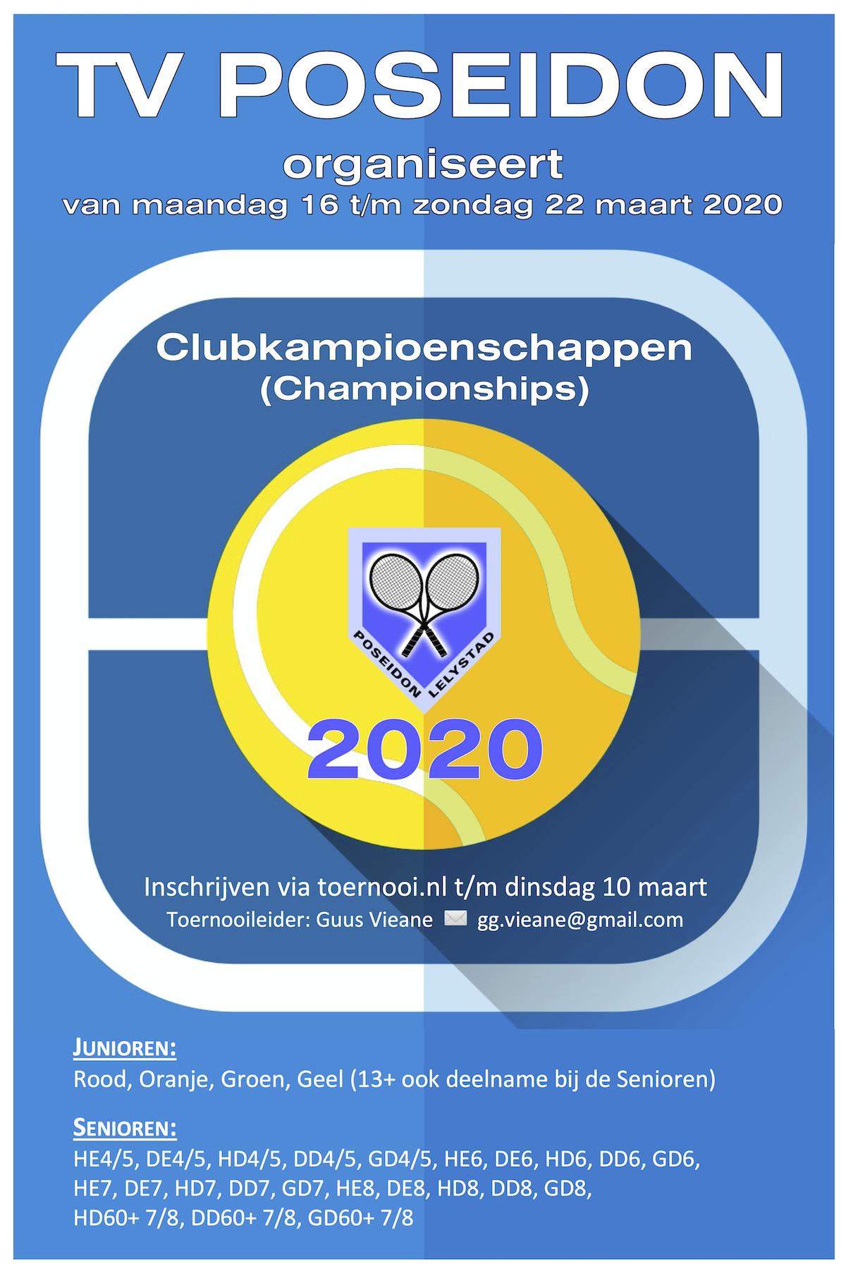 Poster Clubkampioenschappen 2020