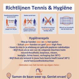 Richtlijnen Tennis & Hygiëne