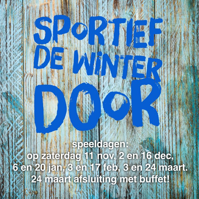 Sportief de winter door